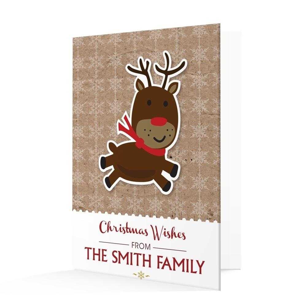 Premium Christmas Cards - Reindeer Design