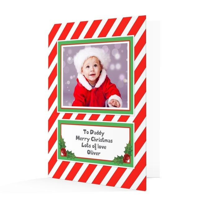 Premium Photo Christmas Cards - Stripey