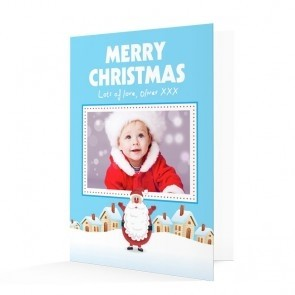 Premium Photo Christmas Cards - Merry Christmas Santa