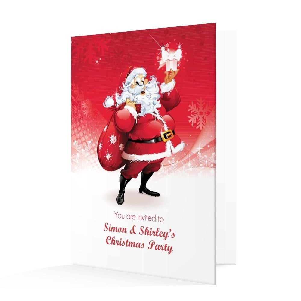 Christmas Invitation Card - Jolly Santa Christmas