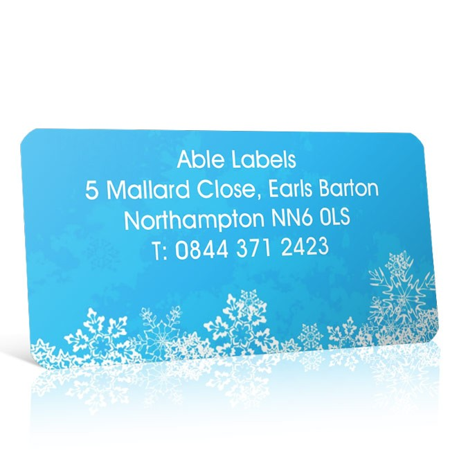 Christmas A4 Sheet Labels - Snowflake