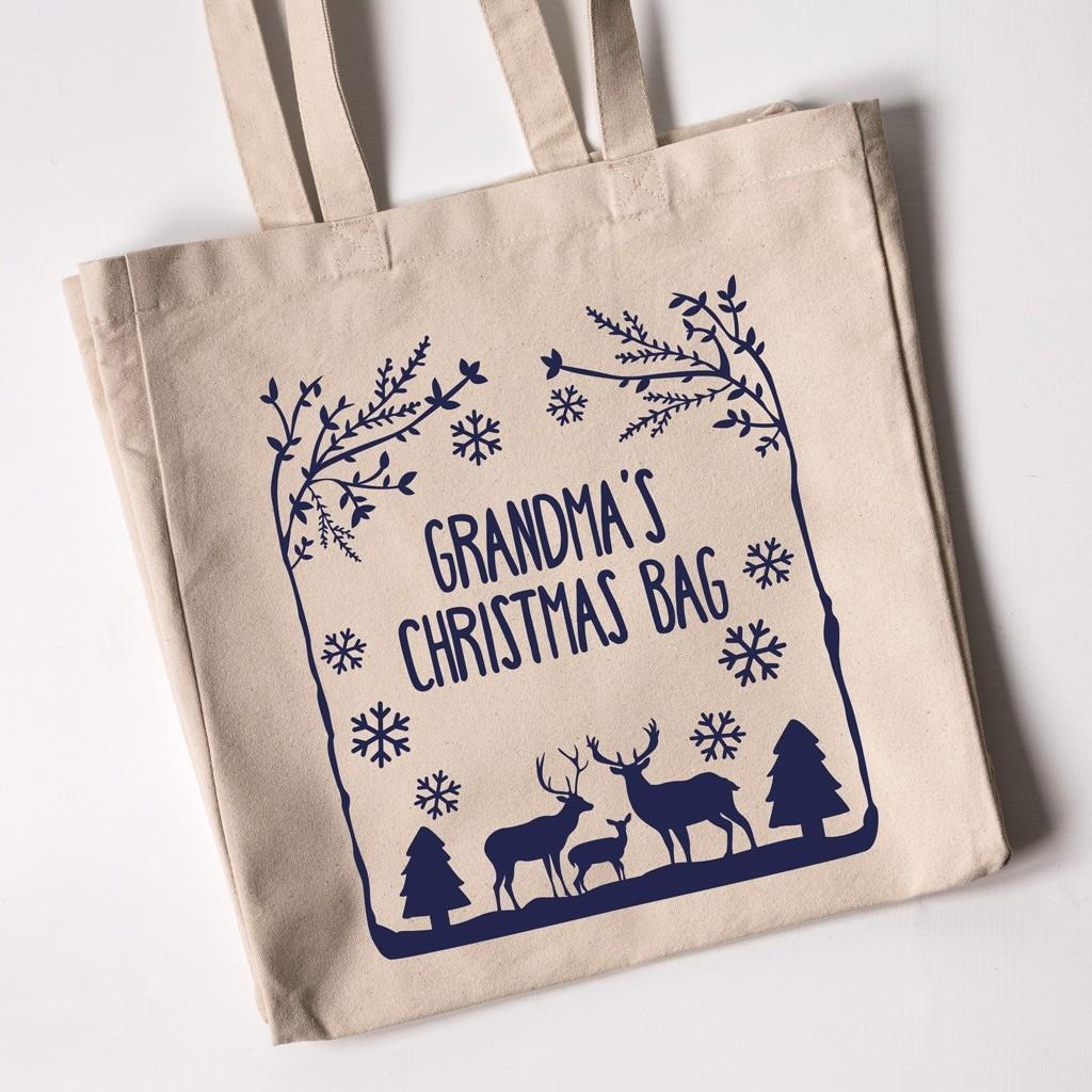 Personalised Christmas Tote Bag - Winter Wonderland