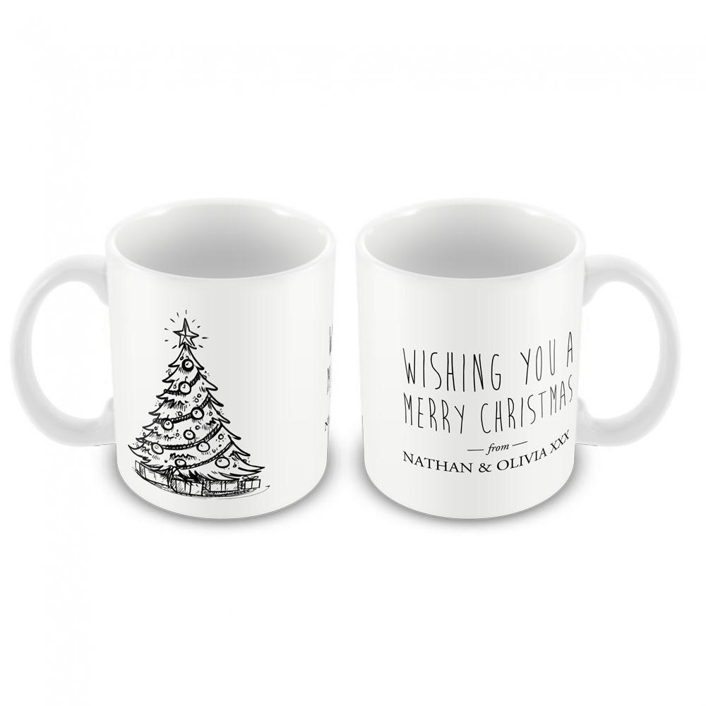Christmas Mug Vintage Christmas Tree