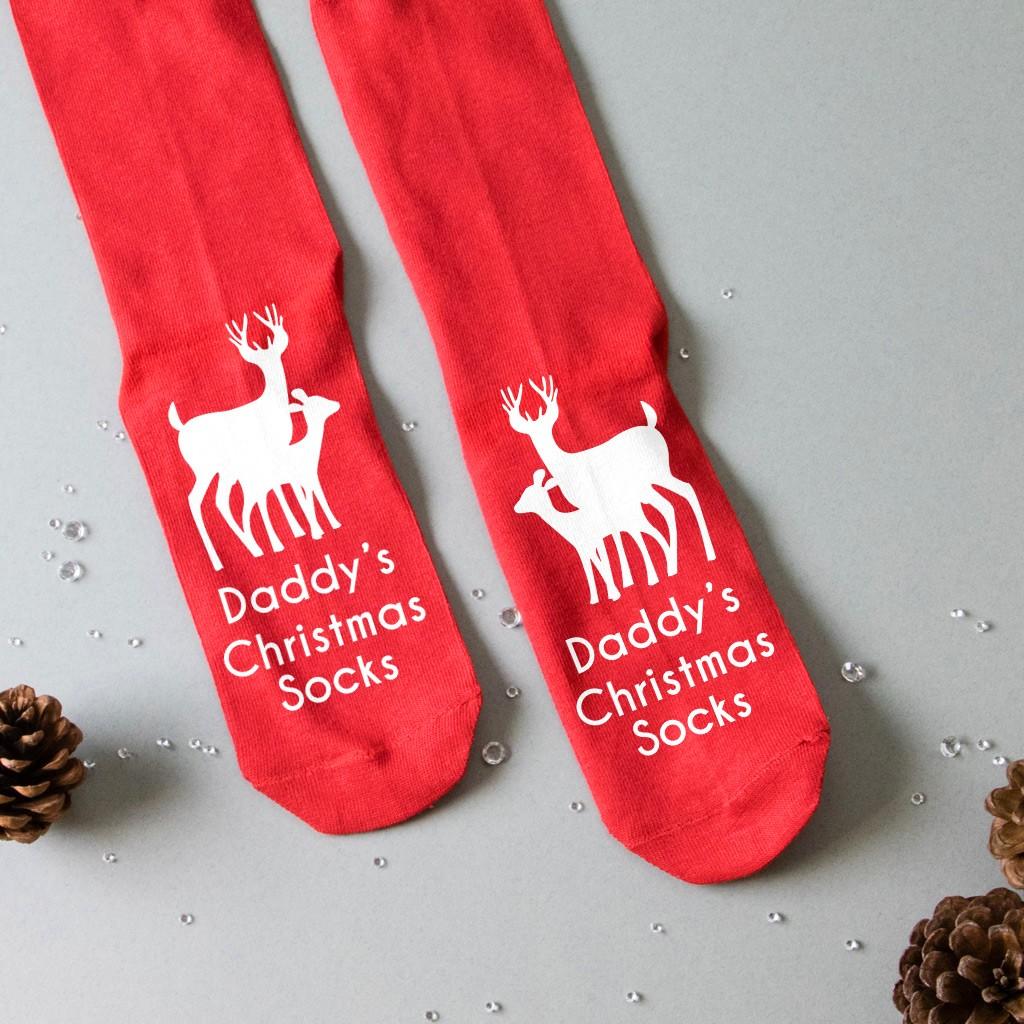 Personalised Christmas Socks - Reindeer and Calf