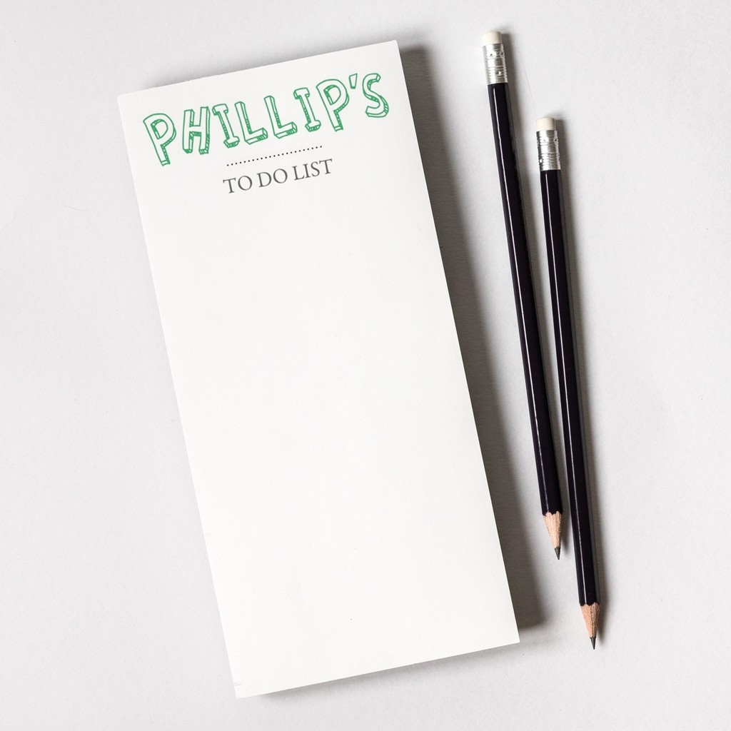 Tear Off Notepad And Plain Pencils
