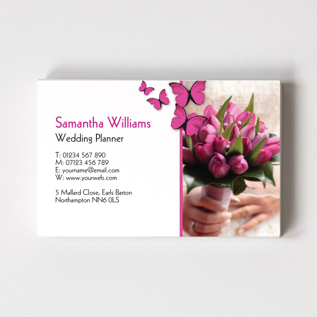 Wedding Planner Templated Business Card 2