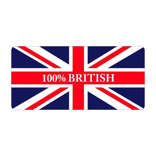 100% British - Pre Designed Labels