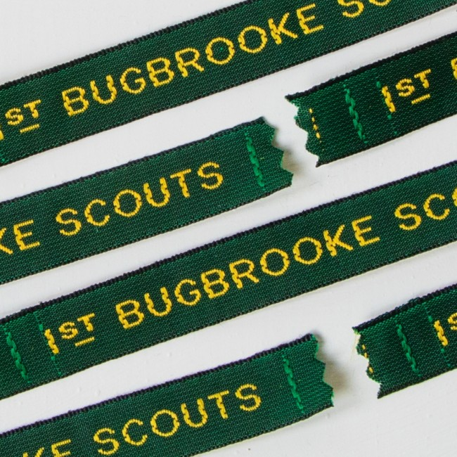 Scout & Guide Sew In Name Labels - 12mm