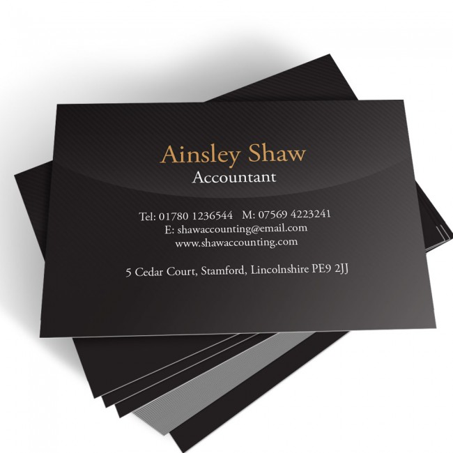 Templated Business Card Accountant 2