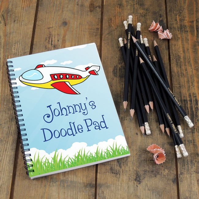 Aeroplane Notebook & Pencil Gift Set