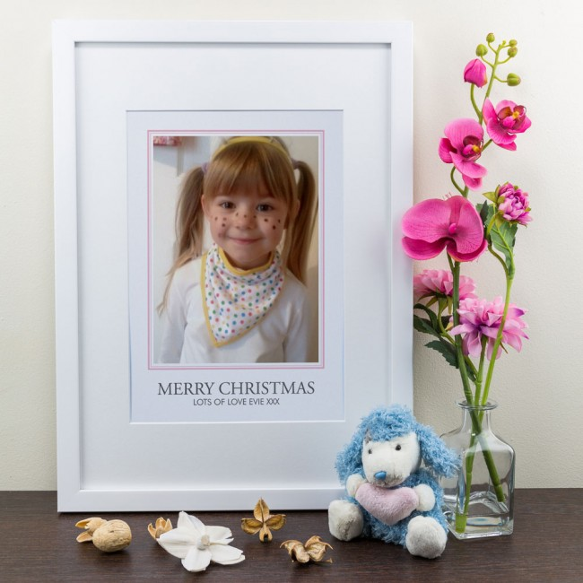 Photo Border with Message - Personalised Art Print