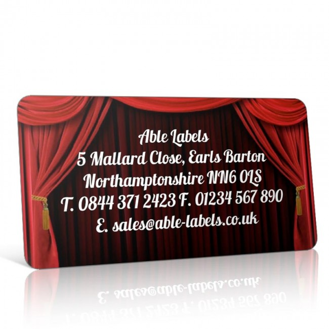 Pre Designed Theatre Curtains Address Label on A4 Sheets
