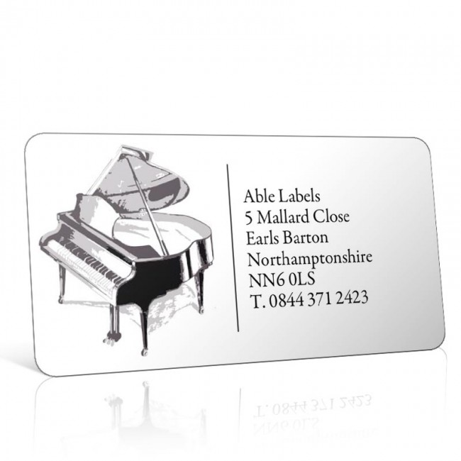 Pre Designed Piano Address Label on A4 Sheets
