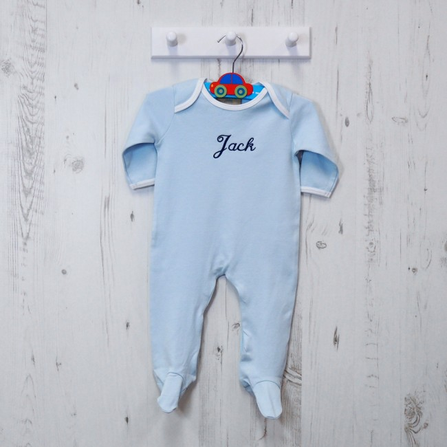 Personalised Embroidered Baby Grow