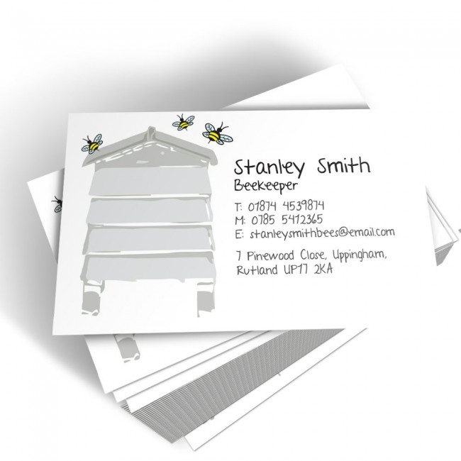 Templated Business Card Bee Keeper 2