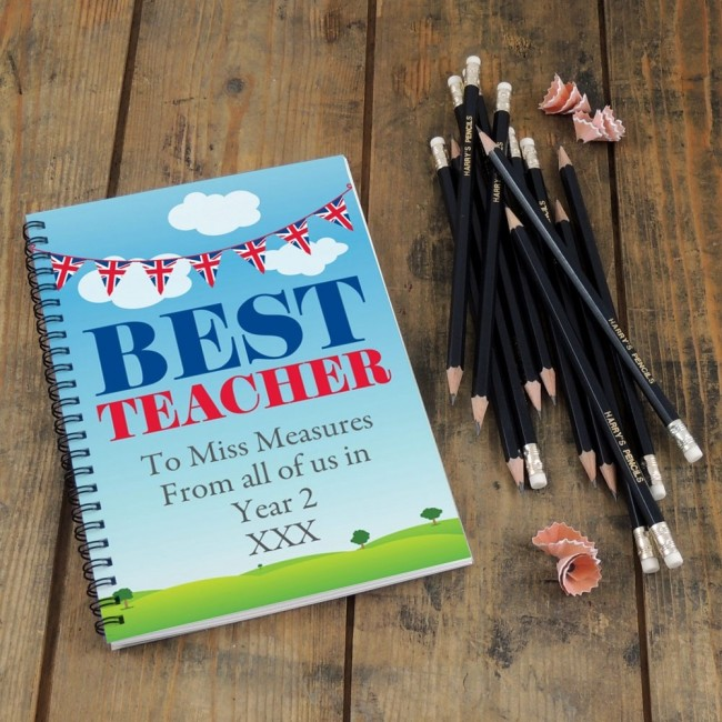 Best Teacher Notebook & 12 Graphite Pencils