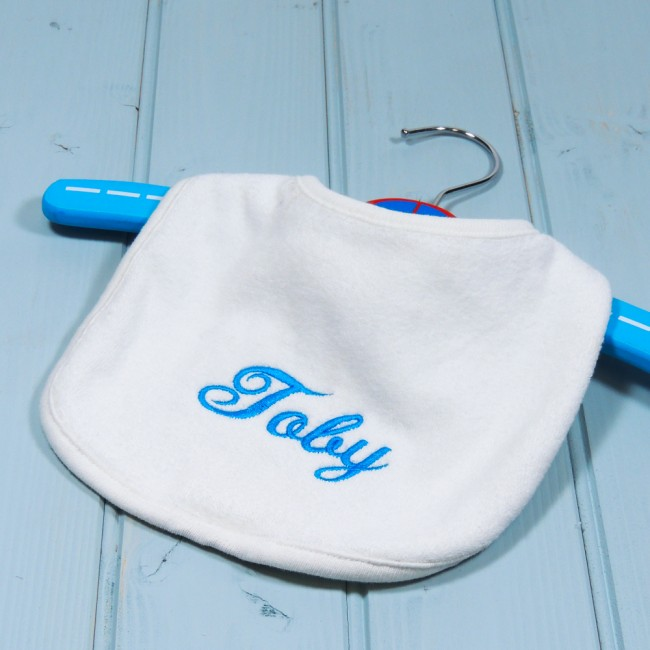 Personalised Embroidered Baby Bib