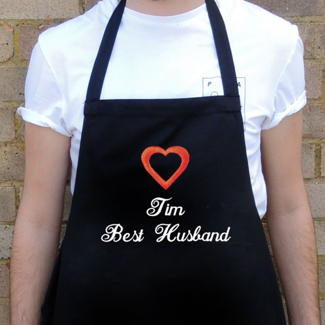Valentine's Day Embroidered Apron