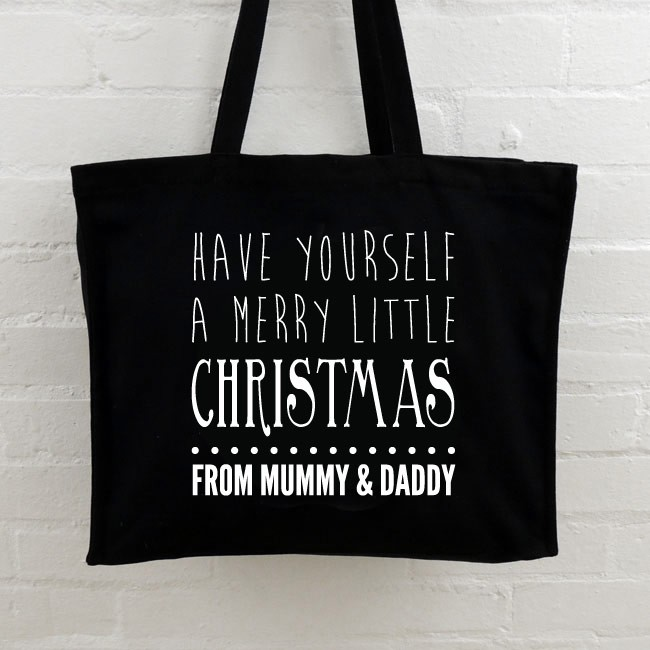 Christmas Personalised Tote Bag - Merry Little Christmas
