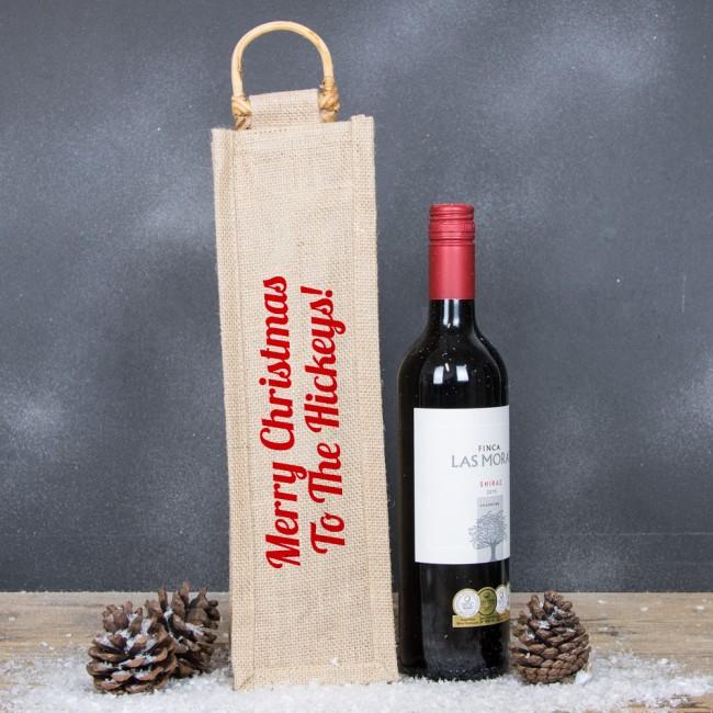 Personalised Hessian Bottle Bag