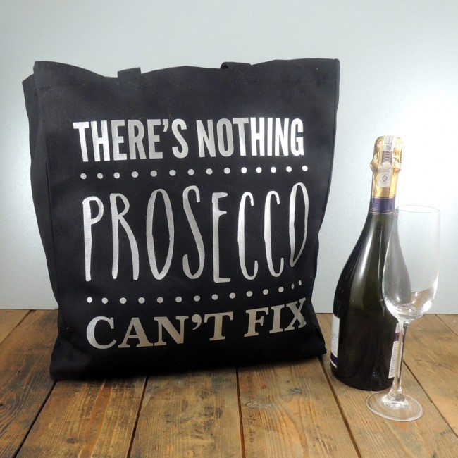 Personalised Tote Bag - There's Nothing Prosecco Can't Fix