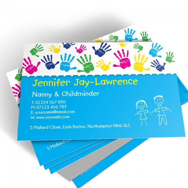 Templated Business Card Childminder 2