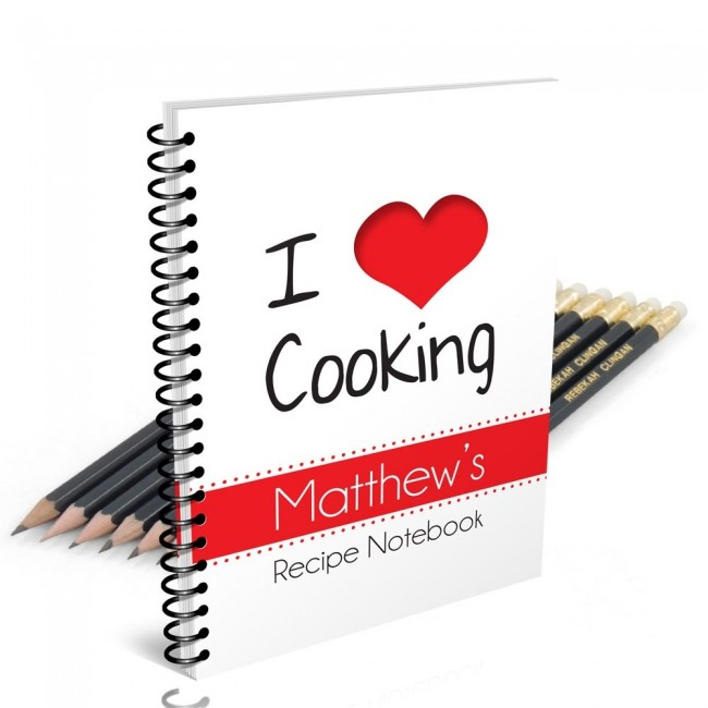 I Love Cooking Notebook Gift Set