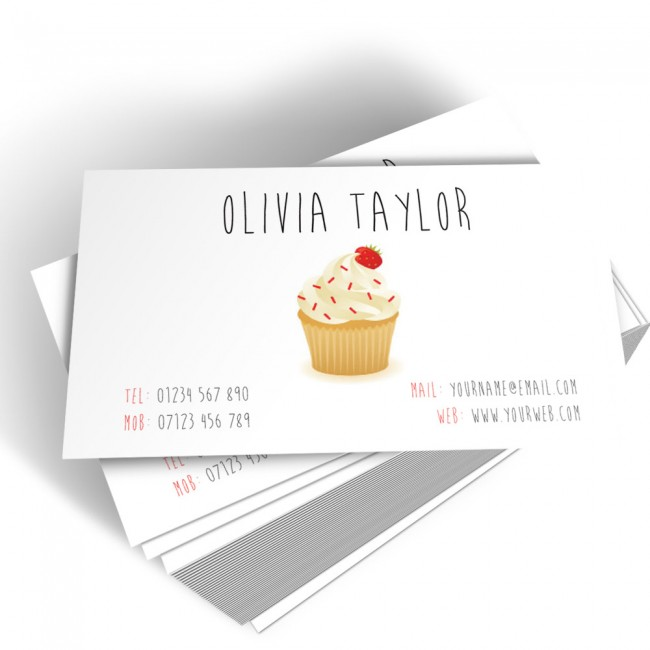Cupcake maker business cards able labels templated business card cup cake maker 2 cheaphphosting Gallery