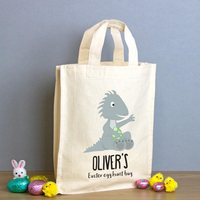 Easter Egg Hunt Mini Tote Bag - Dinosaur