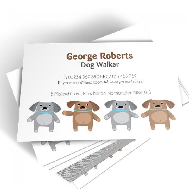 Templated Business Card Dog Walker 3