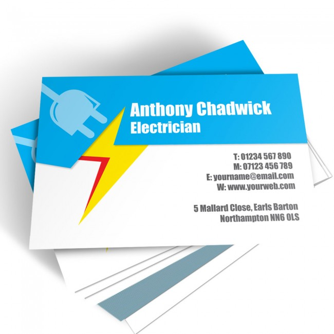 Templated Business Card Electrician 2