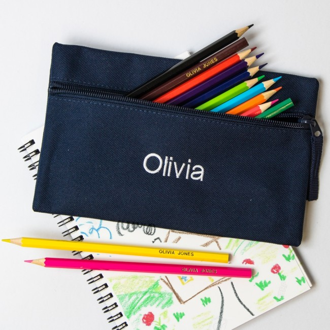Personalised Embroidered Pencil Case
