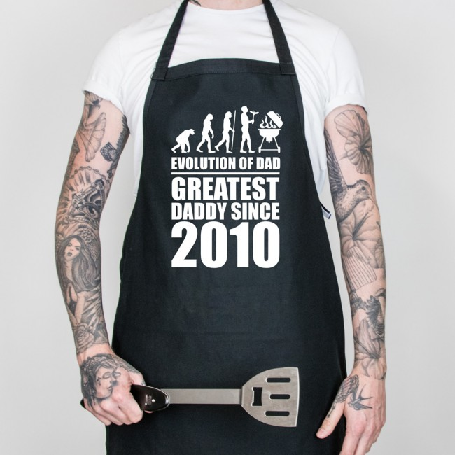 Father's Day Evolution of Dad Apron - Black