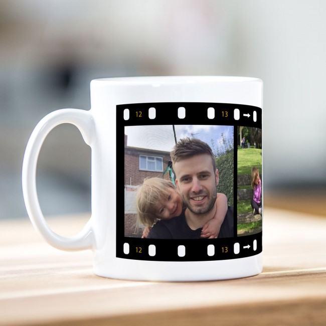 3 Photo Film Strip Mug