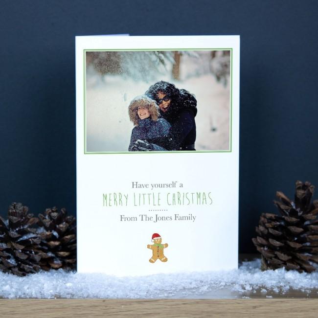 Premium Christmas Cards - Gingerbread Man Photo Upload