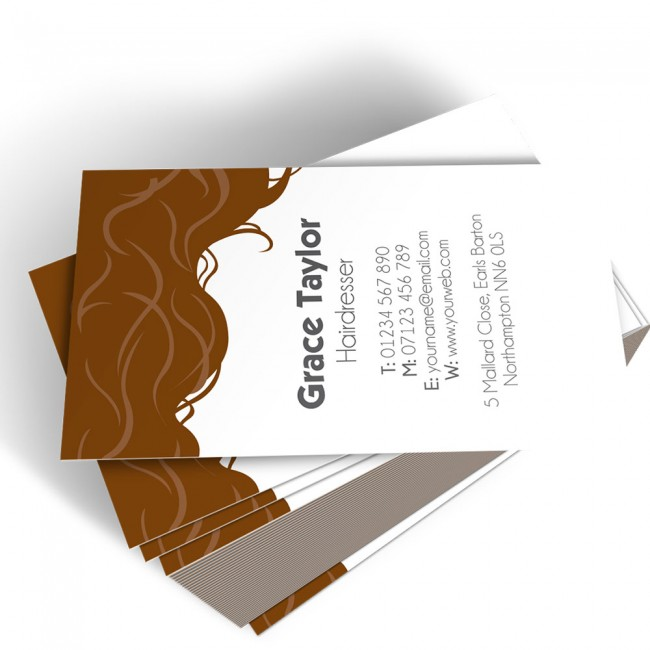 Templated business card hairdresser 3
