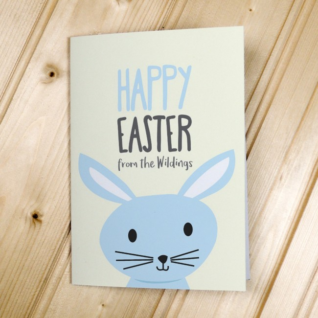 Blue Rabbit Easter Cards
