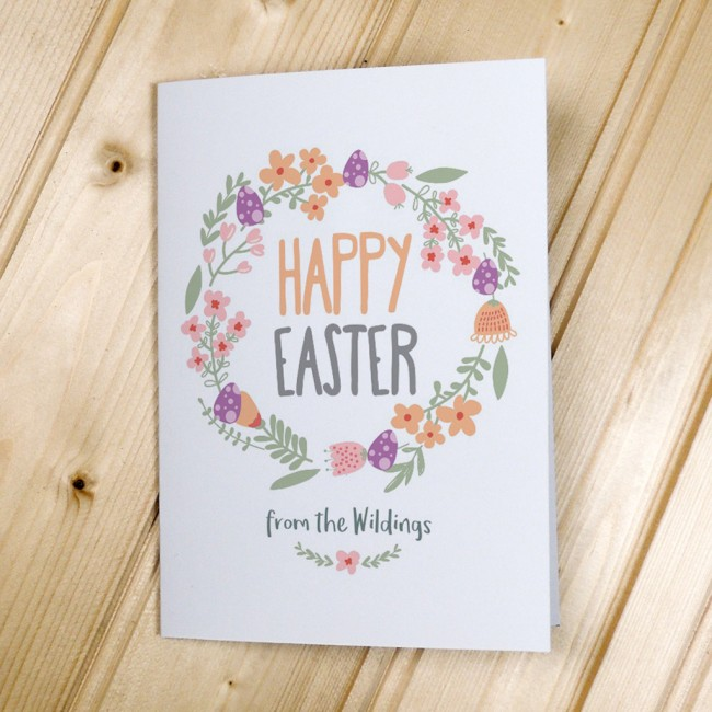 Flower Garland Easter Cards