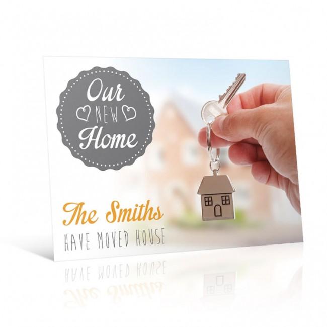 House Key - Change of Address Postcard