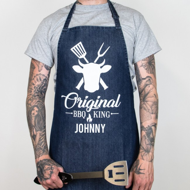 Father's Day Denim Original BBQ King Apron