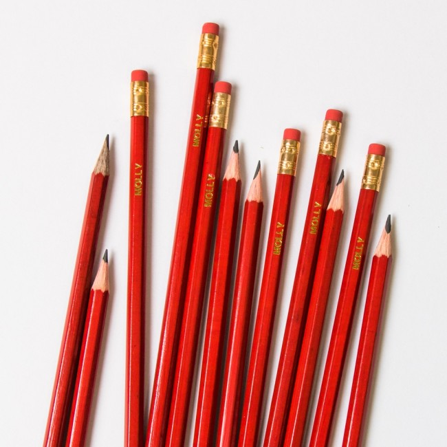 Personalised Red Pencils