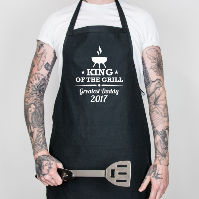 Father's Day King of the Grill Apron - Black