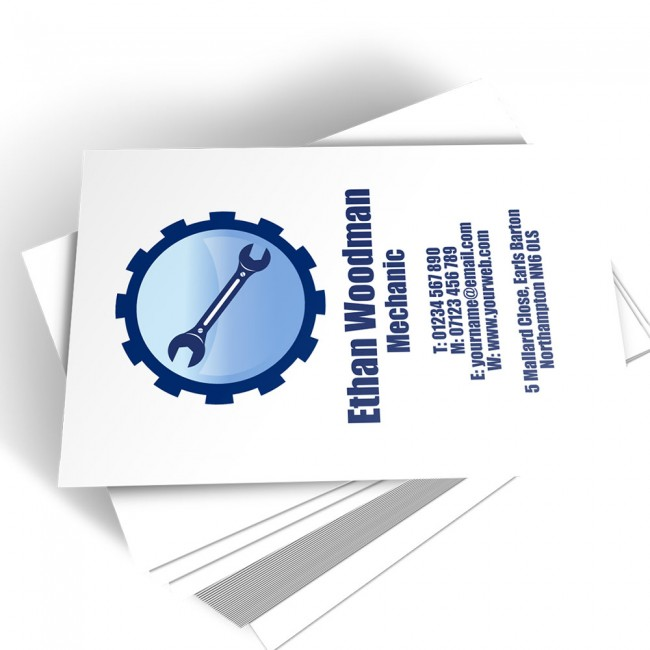 Templated Business Card Mechanic 1