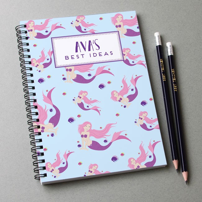 Mermaid Pattern Notebook & Pencil Gift Set