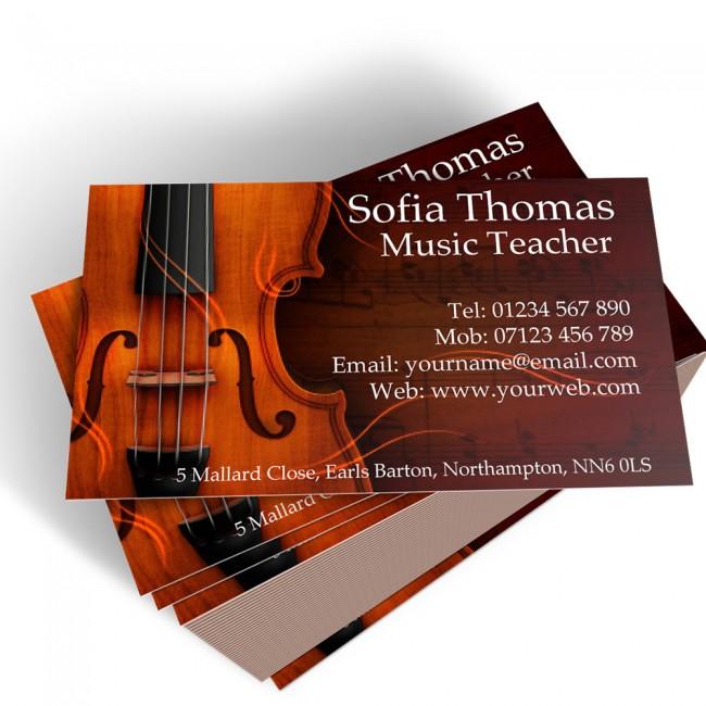 Templated Business Card Music Teacher 2