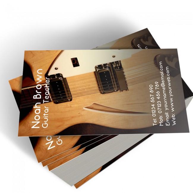Templated Business Card Music Teacher 3