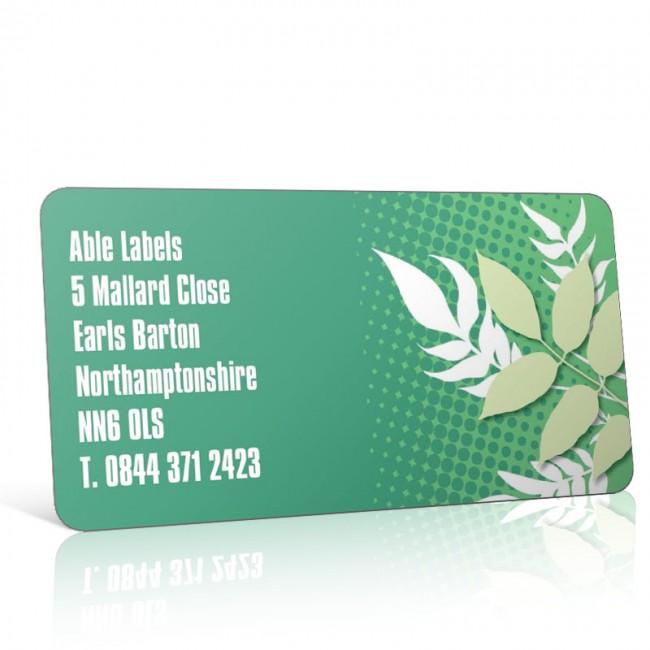 Pre Designed Leaves Address Label on A4 Sheets