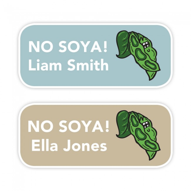 No Soya (Soy) - Allergy Labels - Style 1