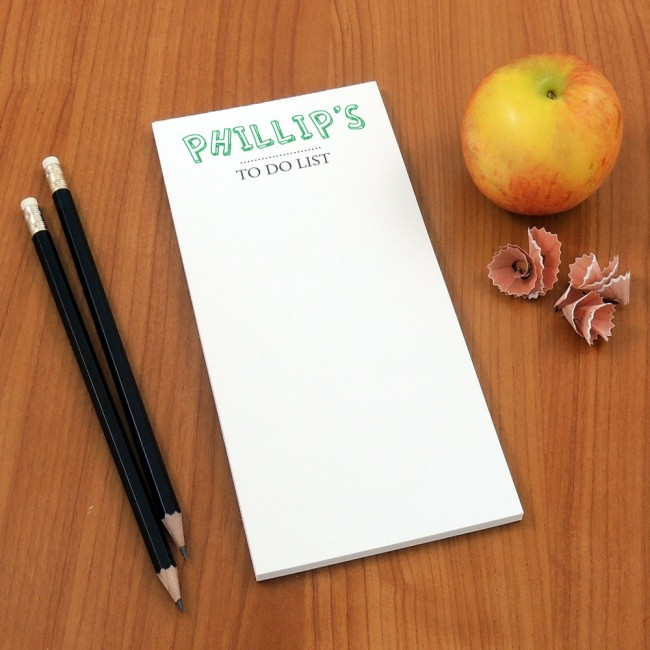 Tear Off Notepad and Plain Pencils - Cartoon Text