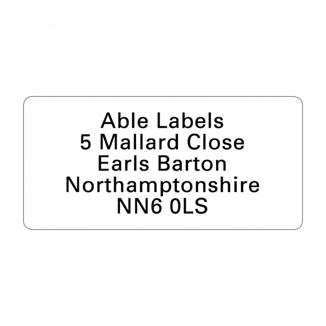 White Original Cut Labels